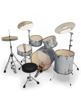 acoustic-drum-set-3d-models