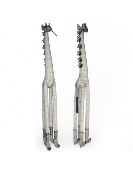 sculpture-de-girafe-coloree-modele-3d-fil