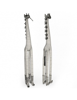 sculpture-de-girafe-coloree-roxanna-3d-filaire