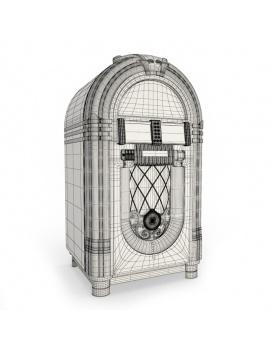 jukebox-wurlitzer-3d-models-wireframe