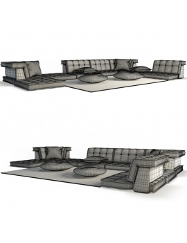furniture-mah-jong-roche-bobois-3d-table-sofa-wireframe