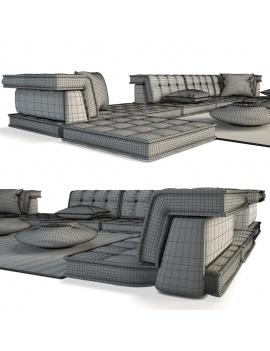 furniture-mah-jong-roche-bobois-3d-wireframe