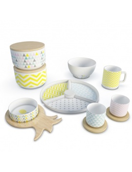 tableware-nordic-set-3d