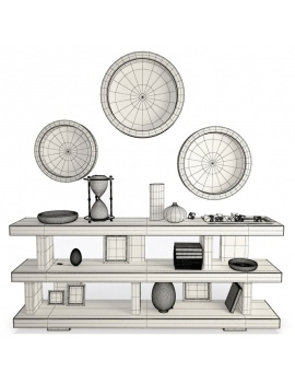 wooden-decorative-shelves-and-mirrors-3d-wireframe