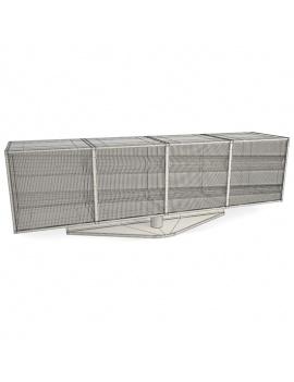 furniture-metal-set-3d-opto-wireframe
