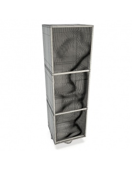 modern-metallic-furniture-roche-bobois-3d-wireframe