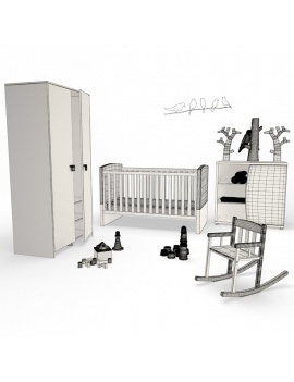 baby-wooden-bedroom-3d-complete-wireframe