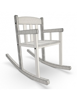 baby-wooden-bedroom-3d-rockingchair-wireframe