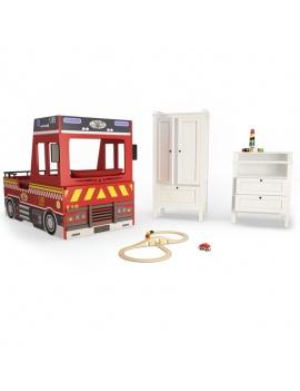 boy-fire-bedroom-set-3d-complete