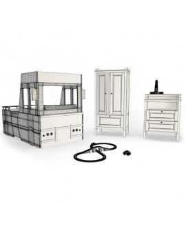 boy-fire-bedroom-set-3d-complete-wireframe
