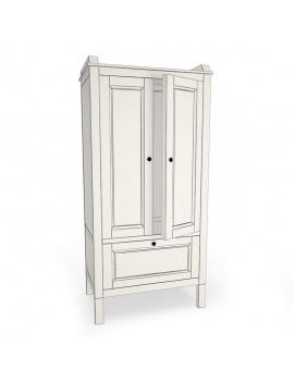 boy-fire-bedroom-set-3d-closet-sundvik-wireframe