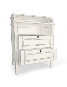 boy-fire-bedroom-set-3d-dresser-sundvik-wireframe