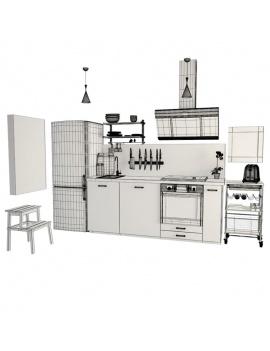 cuisine-moderne-complete-3d-filaire