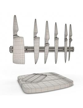 cuisine-moderne-complete-3d-couteaux-filaire