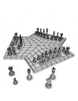 collection-jeux-plateau-3d-echec-3-joueurs-filaire