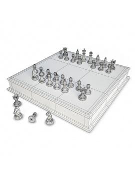 collection-jeux-plateau-3d-echec-filaire