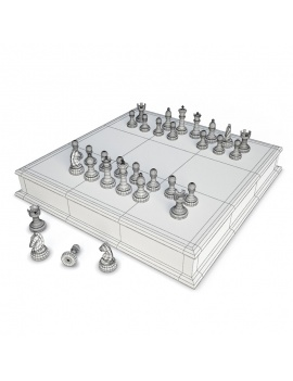 board-games-collection-3d-chess-wireframe