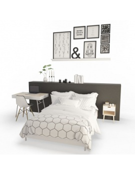 modern-bedroom-set-3d-complete