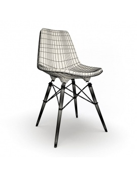 modern-bedroom-set-3d-eames-dswr-chair-wireframe