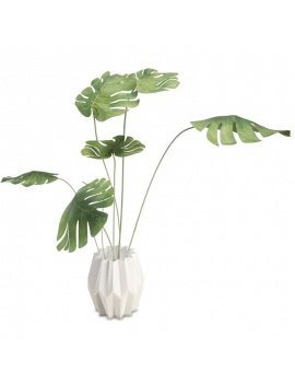 modern-bedroom-set-3d-graphic-plant-pot