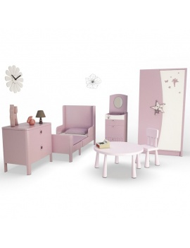 girl-bedroom-set-3d-complete