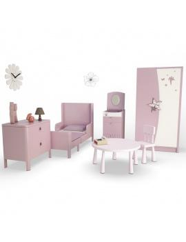 pink-girl-bedroom-set-3d-complete