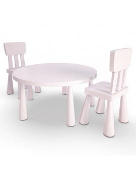 pink-girl-bedroom-set-3d-table-chair-mammut-ikea