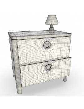 girl-bedroom-set-3d-dresser-wireframe