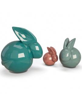 pink-girl-bedroom-set-3d-sculpture-rabbit