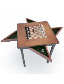 jeux-de-salle-3d-table-échec