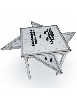 jeux-de-salle-3d-table-échec-filaire