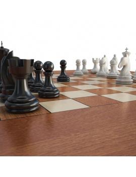 jeux-de-salle-3d-table-échec-gros-plan