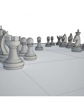 jeux-de-salle-3d-table-échec-gros-plan-filaire