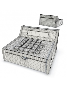 toys-collection-3d-cash-drawer-duktig-wireframe