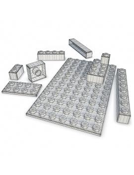 collection-de-jeux-d-enfants-en-bois-3d-legos-filaire