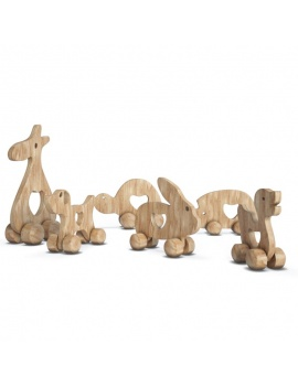 wooden-toys-collection-3d-wooden-animals