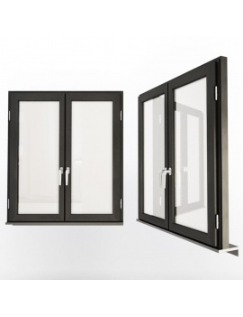doors-and-windows-collection-3d-double-black-windows