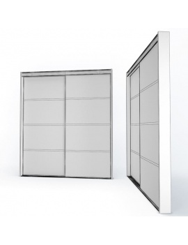 doors-and-windows-collection-3d-metallic-sliding-closet-door-wireframe