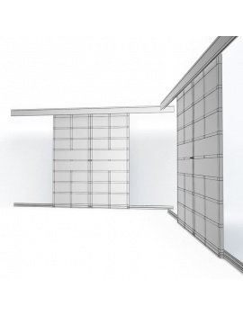 doors-and-windows-collection-3d-metallic-sliding-closet-door02-wireframe