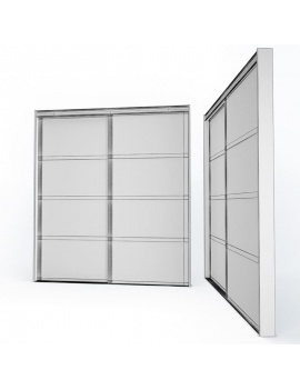 doors-and-windows-collection-3d-metallic-sliding-closet-door03-wireframe