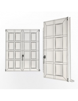 doors-and-windows-collection-3d-multipan-black-windows-wireframe