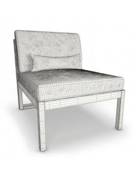 mobilier-exterieur-siena-manutti-modeles-3d-module-central-court-filaire
