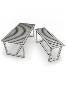mobilier-exterieur-siena-manutti-modeles-3d-table-rectangulaire-filaire