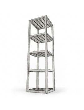 mobilier-exterieur-siena-manutti-modeles-3d-étagère-filaire