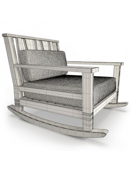 york-collection-3d-rockingchair-wireframe