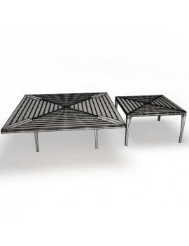 collection-de-mobilier-village-3d-table-filaire