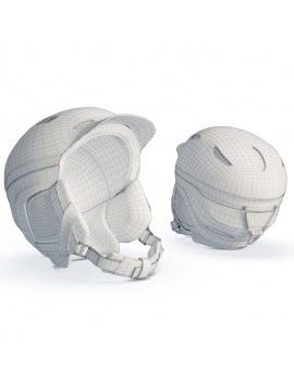 collection-de-materiel-de-sport-d-hiver-3d-casque-filaire