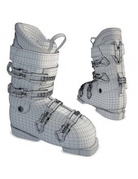 collection-de-materiel-de-sport-d-hiver-3d-chaussures-filaire