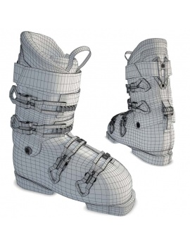 winter-sport-equipment-collection-3d-ski-shoes-wireframe
