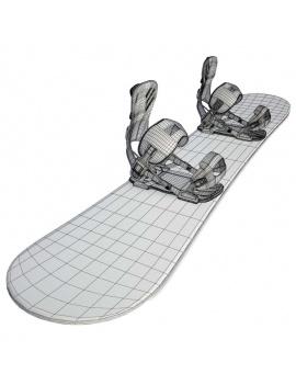collection-de-materiel-de-sport-d-hiver-3d-snowboard-filaire